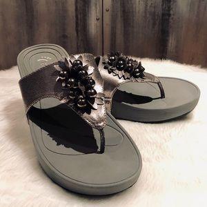 Bare Traps Silver Sandals Sz 9